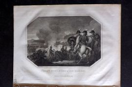 Lyttleton 1810 Military Print. Defeat of the French on the Island of Sicily, Italy
